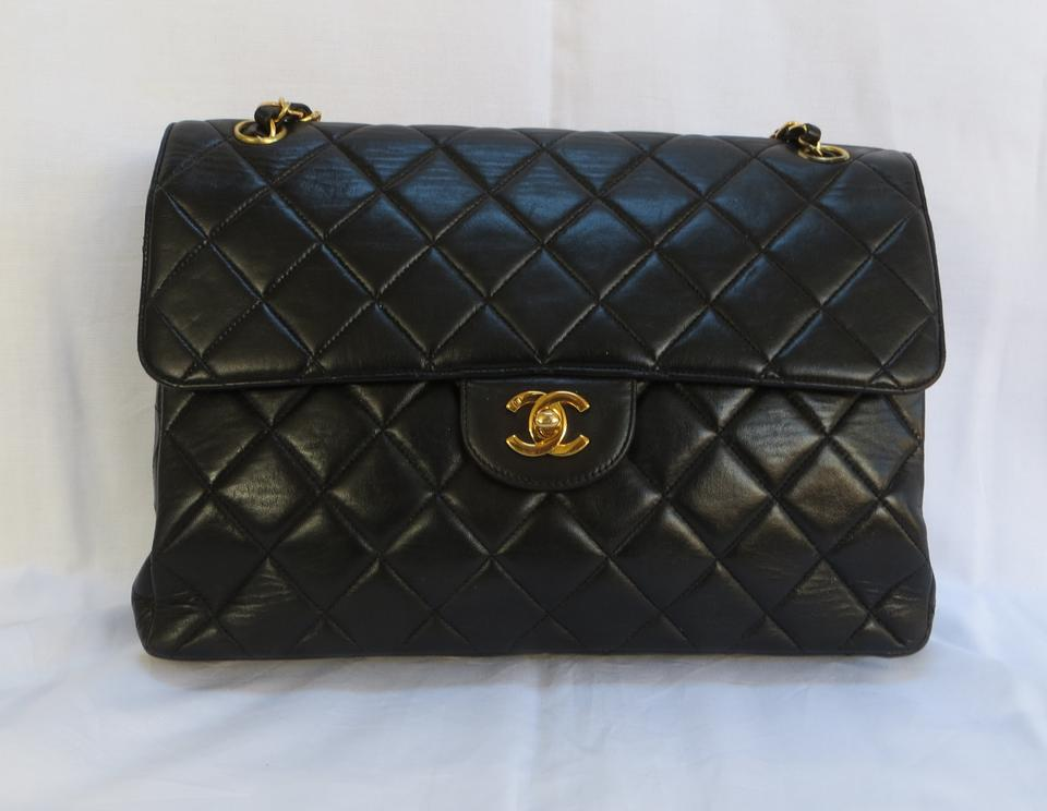 Chanel Double Sided Vintage Quilted Leather Shoulder Bag. 123456789101112 230414a14b118