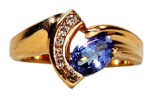 t jewelry ct rose diamond in ring w tw vian tanzanite and gallery le gold lyst