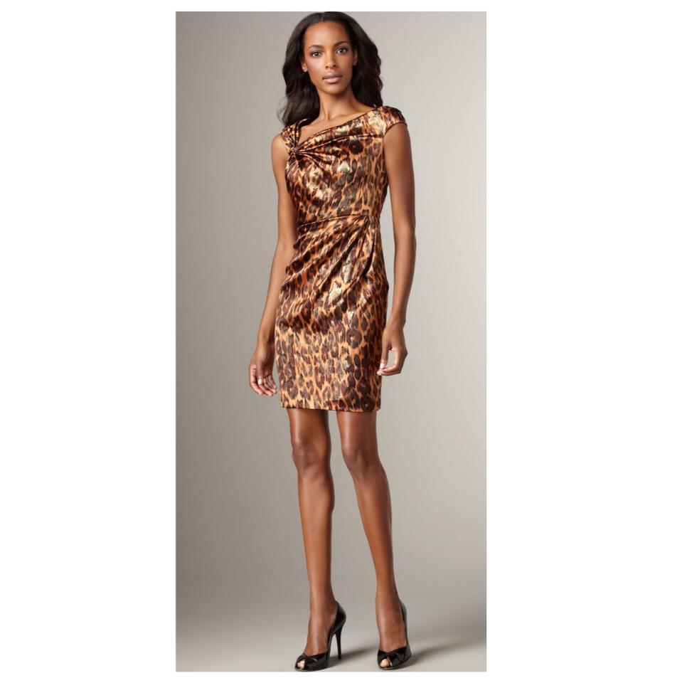 Kay Unger Leopard-print Short Cocktail Dress Size 8 (M) - Tradesy