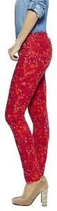C. Wonder C Womens Red English Garden Print Chris Burch Skinny Jeans