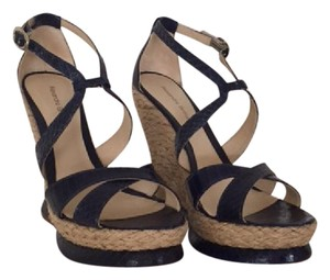 Alexandre Birman Blue Wedges Navy Sandals