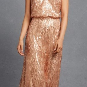 Donna Morgan Feather Sequin Courtney Formal Bridesmaid/Mob Dress Size 10 (M)