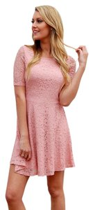 Boutique 9 short dress Pink Bodycon Knot Accent Jersey Asymmetrical Hem on Tradesy