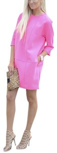 Banana Republic Neon Pockets Shift Lined High Neck Dress