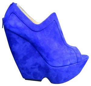 Nicholas Kirkwood Electric Blue Wedges