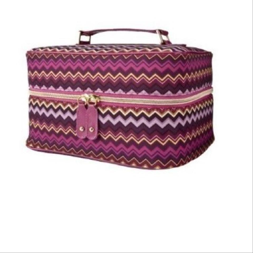 Missoni for Target Purple Pink Train Case Passione Cosmetic Bag ... 24bc6d5453989