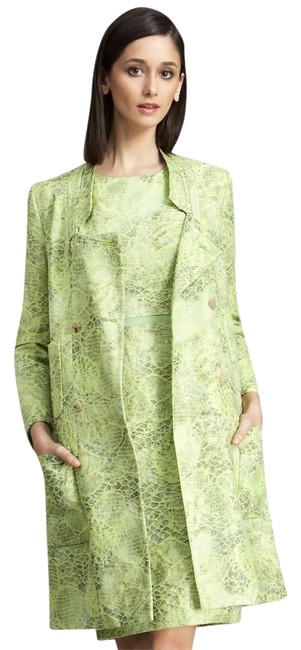 Item - Green Lace Double Breasted Coat Size 4 (S)