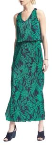 Green Maxi Dress by Banana Republic Fern Maxi Pleats