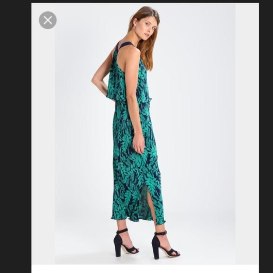 Green Maxi Dress By Banana Republic Fern Pleats 123456