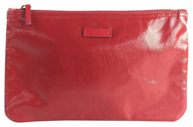 Item - Red Canvas Cosmetic Bag