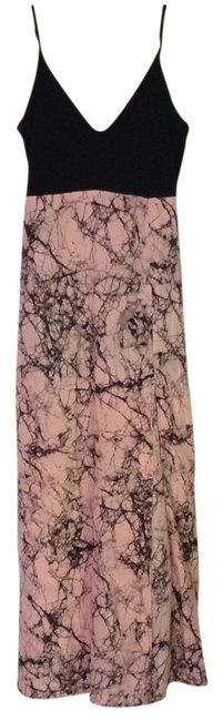Item - Pink Marble with Adjustable Straps and Stretch Bust Long Casual Maxi Dress Size 8 (M)