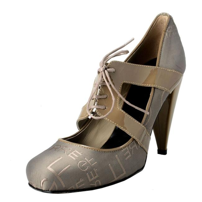 Item - Olive Green / Gray Gf Women's Leather&canvas High Pumps Size US 8 Regular (M, B)