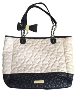 Betsey Johnson Tote in Black and Off-White