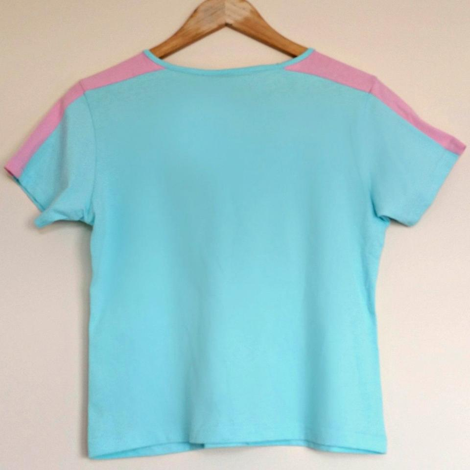 fd21579c5 Tommy Hilfiger Blue New Pastel Beach Athletics Tee Shirt Size 8 (M ...
