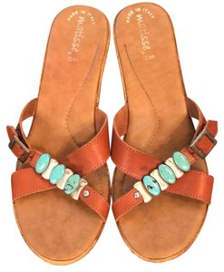 Matisse Tan leather Wedges
