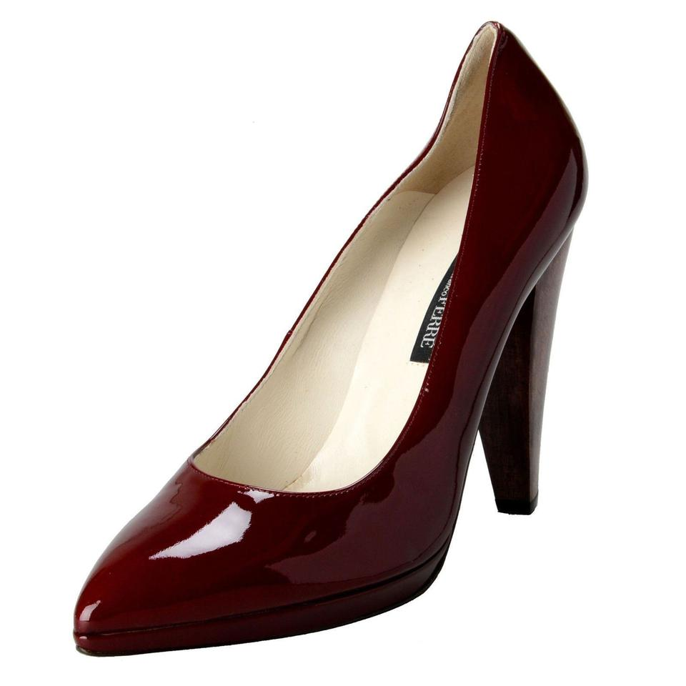 Gianfranco Ferre Burgundy Red Gf Women s Patent Leather High Pumps ...