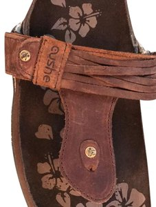 cushe Brown leather Sandals