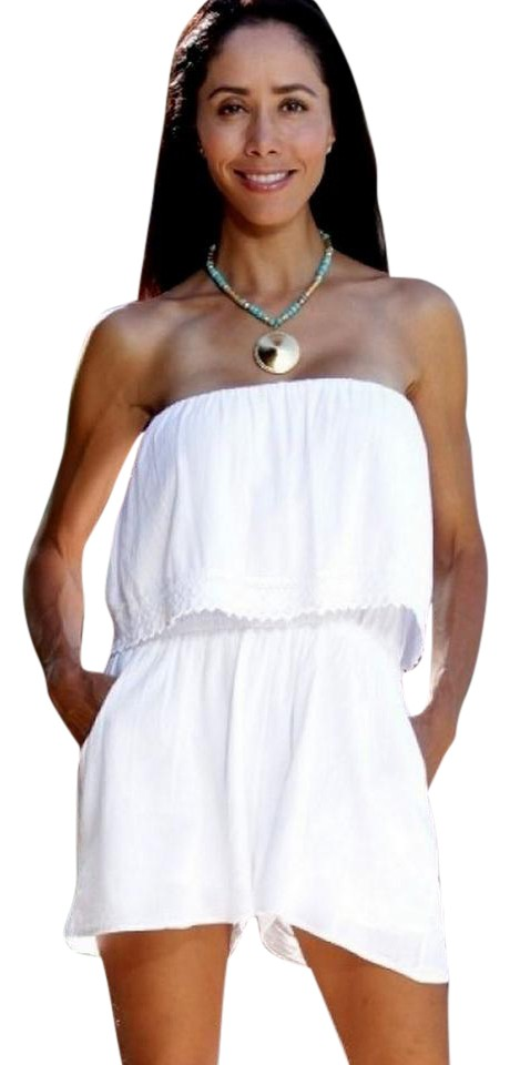 Lirome White Organic Gauze Cotton Strapless -magua- Sides ... - photo#39
