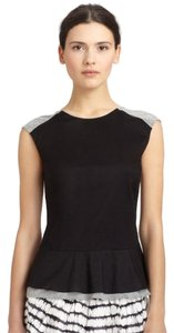 Diane von Furstenberg Top Black/Gray