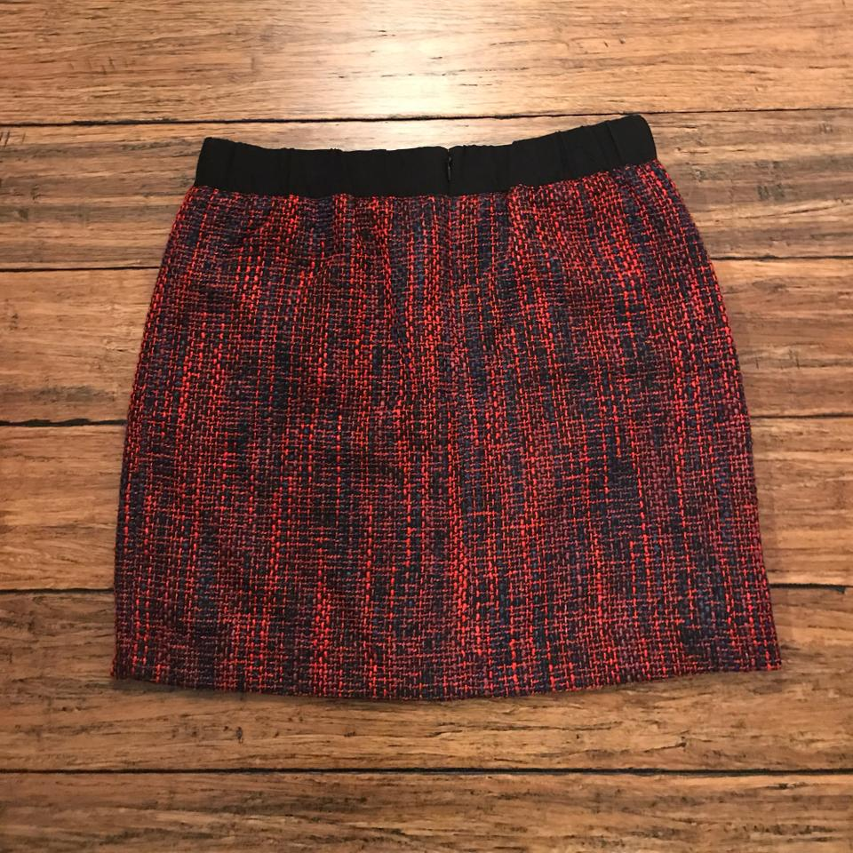 d3369c7a38 Ann Taylor LOFT Red Woven Skirt Size Petite 8 (M) - Tradesy