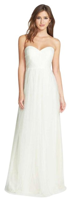 Item - Cream Annabelle Convertible Tulle Bridesmaid Gown Long Formal Dress Size 6 (S)