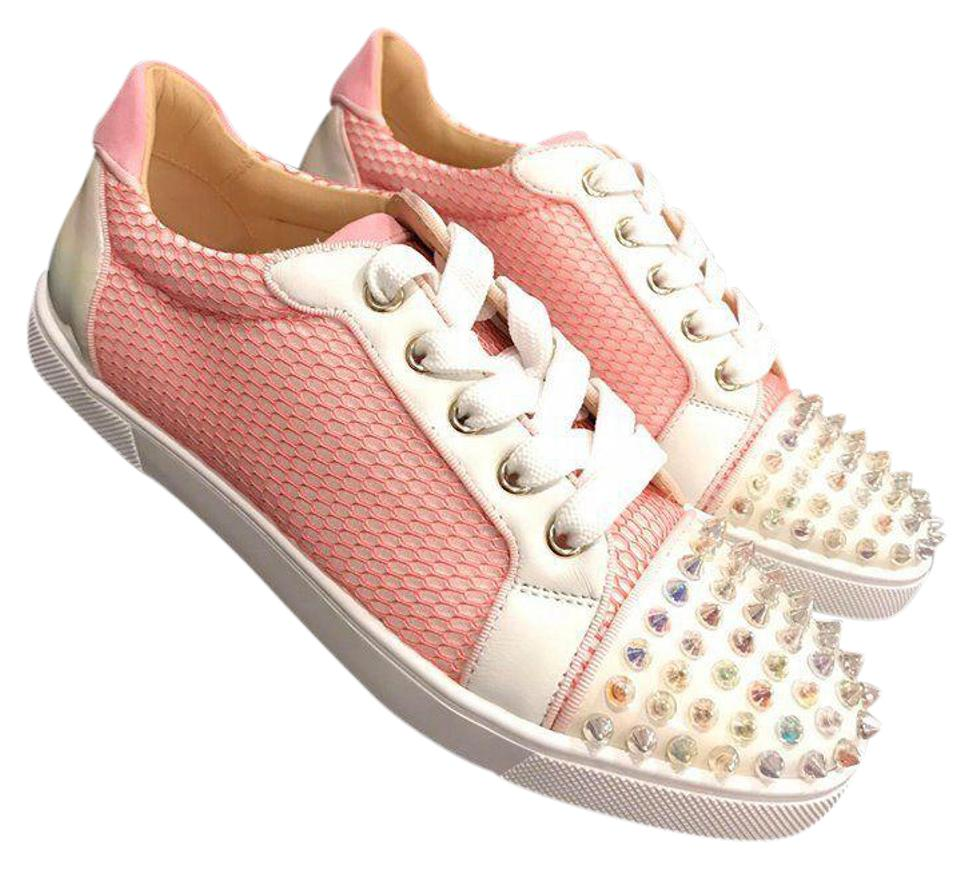 0c1340498a8 Christian Louboutin Pink Gondolita Flat Dolly Spike Toe Lace Up 42 Sneakers  Size US 12 Regular (M, B)