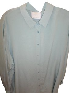 77494be10ca664 Marina Rinaldi Silk Plus Size Top Pale Green Balsa