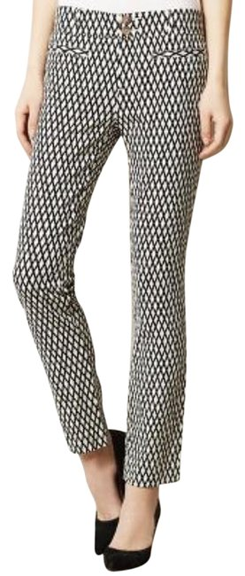Item - Black + White Cartonnier Crosshatched Charlie Pants Size 6 (S, 28)