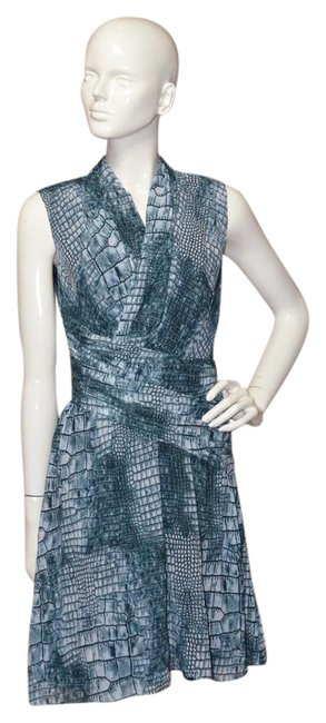 Item - Blue Green Reptile Print Short Night Out Dress Size 2 (XS)