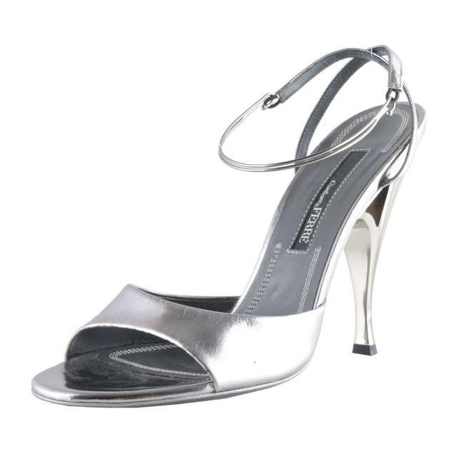 Item - Silver Women's Leather High Sandals Size US 10 Regular (M, B)