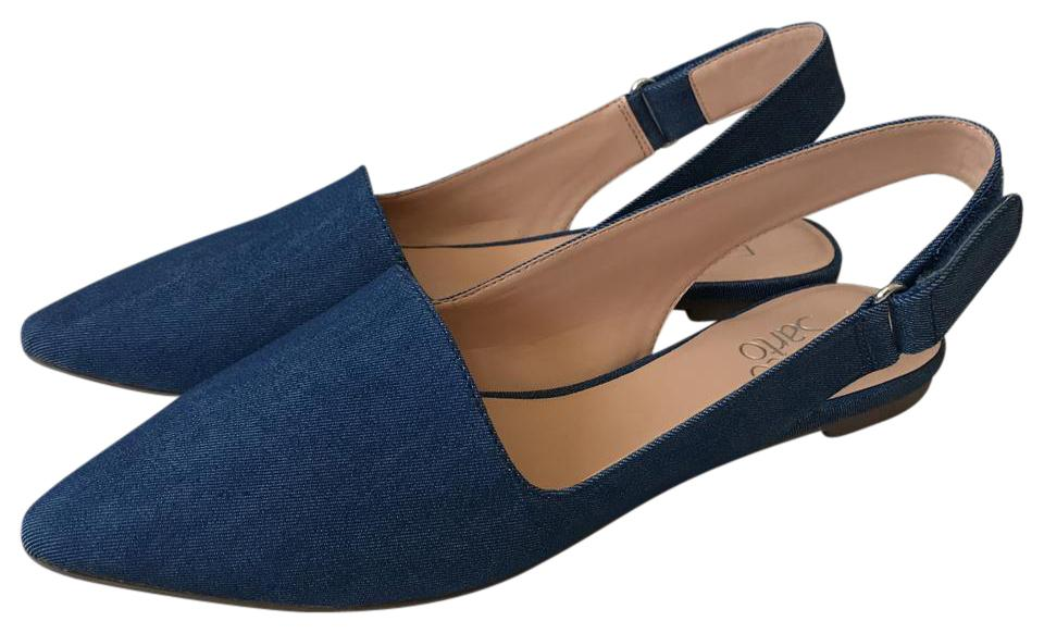 b352139107b Franco Sarto Blue Denim  new  L-sphinx Ballet Flats Size US 8 ...
