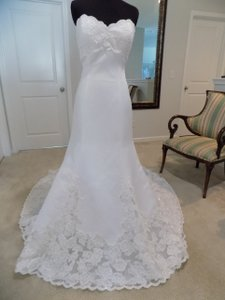 Eden White Wedding Dress Size 10 (M)