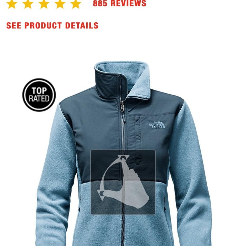 55aebe6ce The North Face White/Grey Women's Denali Jacket Activewear Size 10 (M) 55%  off retail