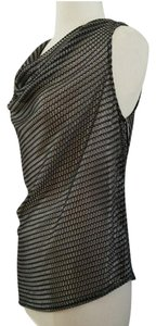 W by Worth Cowl Neck Sleeveless Date Top metallic sterling grey