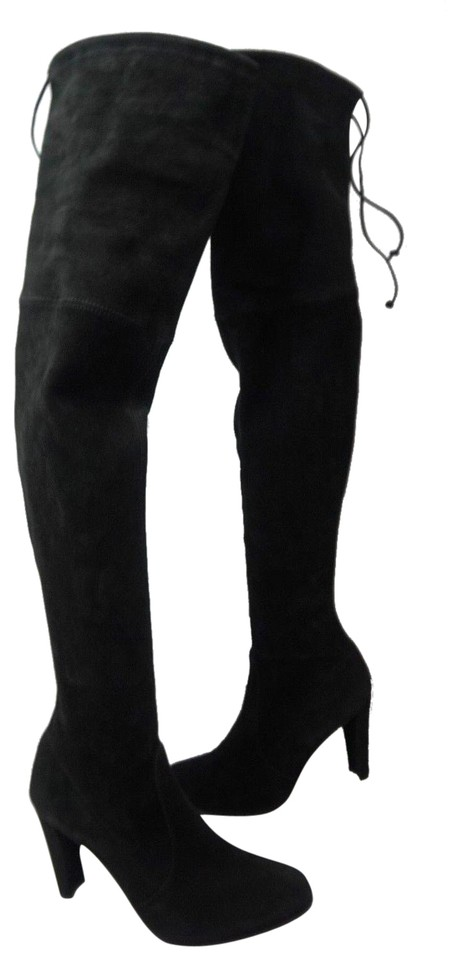 9d25066141a Stuart Weitzman Black Highland Over The Knee Suede Boots Booties ...