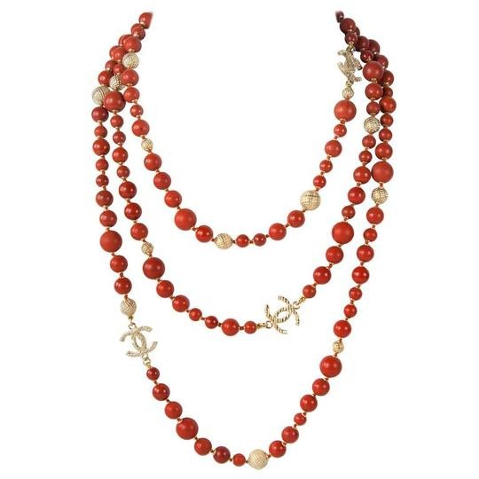 Preload https://img-static.tradesy.com/item/21702870/chanel-orangegold-new-3-layers-cc-logo-marble-coral-beads-2016-necklace-0-0-540-540.jpg
