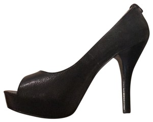 Michael Kors Heels Peep Toe Fall Leather Black Pumps