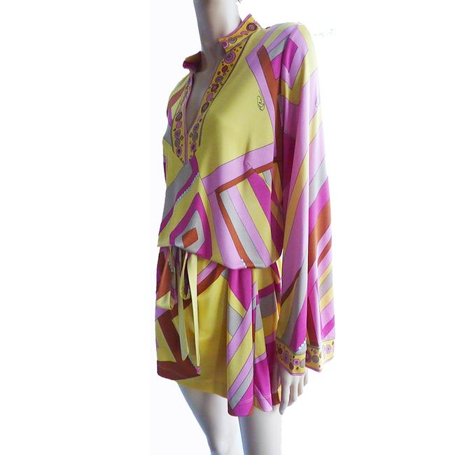 FLORA KUNG Bell Sleeve Large Size Mix Print Signed Print Dress Image 1