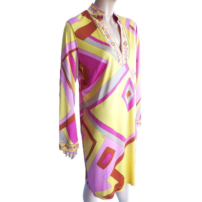FLORA KUNG Bell Sleeve Large Size Mix Print Signed Print Dress Image 4