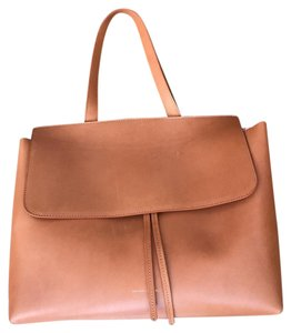 Mansur Gavriel Satchel in tanned cammello with light pink interior