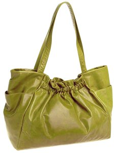 41fd7ee722 Hobo International Gillian Celestia Green Leather Tote in golden lime