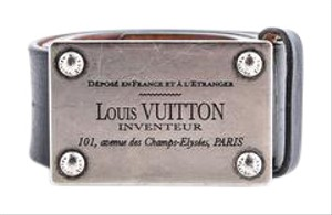Louis Vuitton * Louis Vuitton Inventeur Belt Black