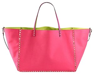 Valentino Tote in Pink and Yellow