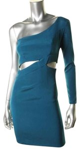 Donna Mizani One Sleeve Cut Silk Party Birthday Dress