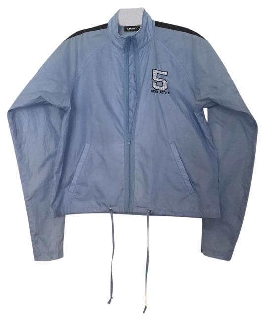 Item - Blue Jacket with Zip Up Sleeves Activewear Size 0 (XS)