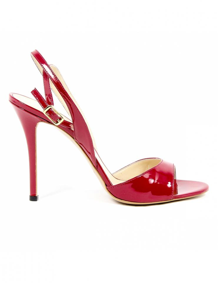 de913dc1985261 Versace 19.69 Red Women s Designer Heel Sandals Size US 7 Regular (M ...