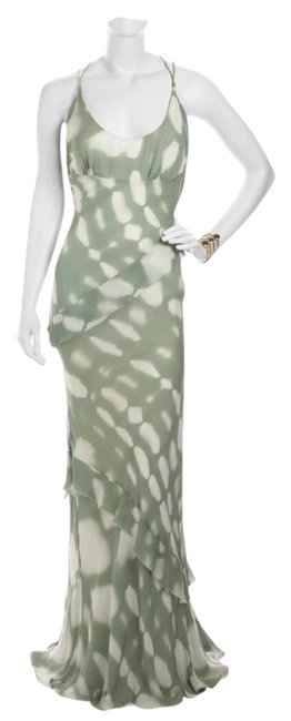 Item - Green Celadon Gown Long Formal Dress Size 4 (S)