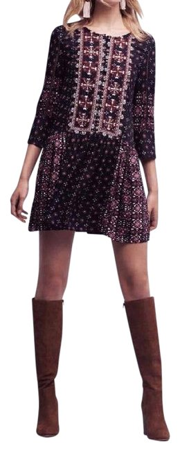 Item - Multi-color Virginia Kaleidoscope Shirtdress By Vanessa S Mid-length Night Out Dress Size 6 (S)