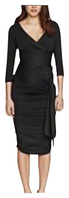 Item - Black Ruched Maternity Dress Size 4 (S)