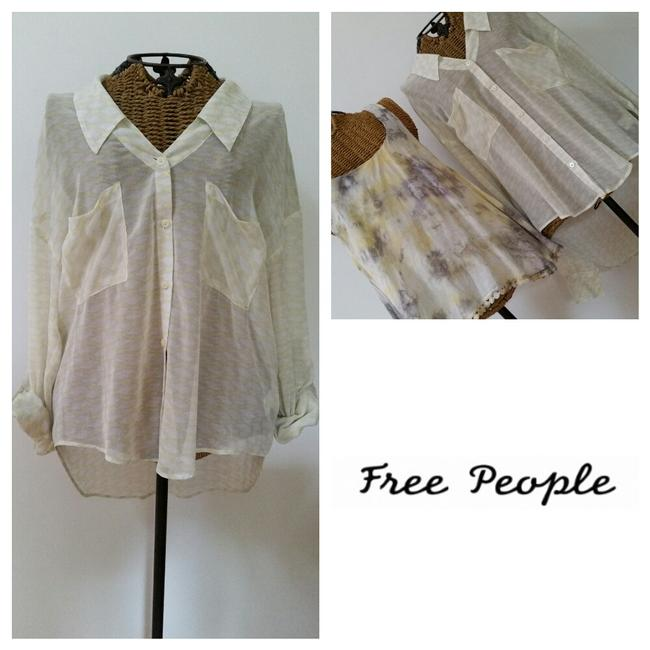Free People Top Yellow Image 1